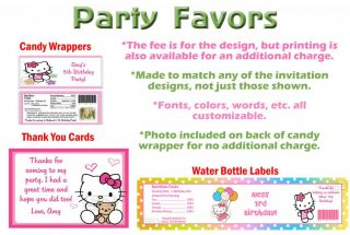 Hello Kitty Luau Birthday Party Ticket Invitations Supplies Favors