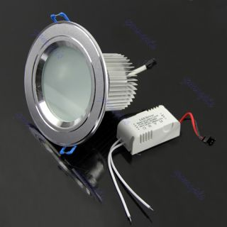 High Power 5W LED Downlight Lamp Ceiling Cabinet Bulbs White Warm Light Driver