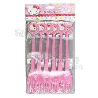 Authentic Sanrio Hello Kitty Birthday Cake Party Supplies 6X Child Kids Fork