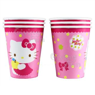 Authentic Sanrio Hello Kitty Kids Child Birthday Party Supplies 6X Paper Cups