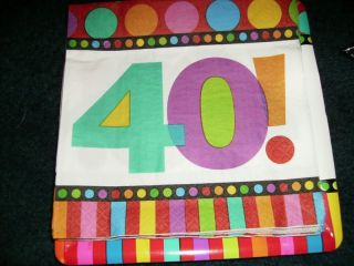 40th Happy Birthday Large Lot Party Decorations Candy Banner Stake 40 Over Hill