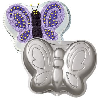 Butterfly Cake Baking Pan Wilton Tin Girls Kids Birthday Party Aluminium