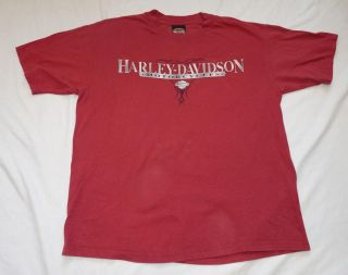 Mens Large Burgundy T Shirt Harley Davidson New Orleans