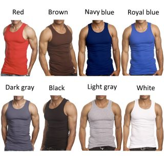 New Men Cotton Muscle Vest Slim Fit Sexy Tee Stylish Tank Top Sleeveless T Shirt