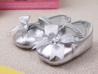 Newborn Baby Girl Doll Silver Mary Jane Shoes US Size 0 A912