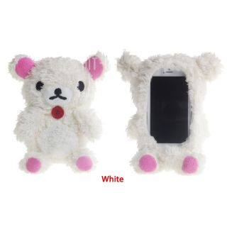 Newest Sweet Cute 3D Teddy Bear Doll Case Cover for iPhone 4 4S 5 5S 5c White