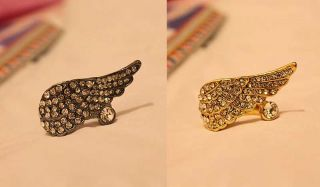 Fashion Retro Sweet Cute Full Crystal Rhinestone Angel Wing Ring Rings