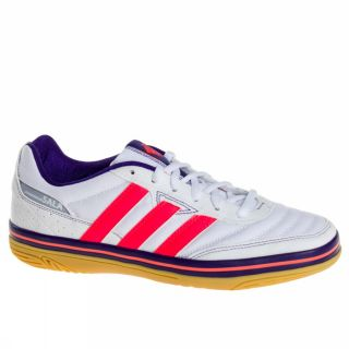 Adidas Janeirinha Sala UK Size White Coral Trainers Shoes Mens Soccer New