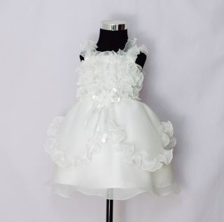 New Baby Girls Ivory Christening Party Dress 6 9 Months