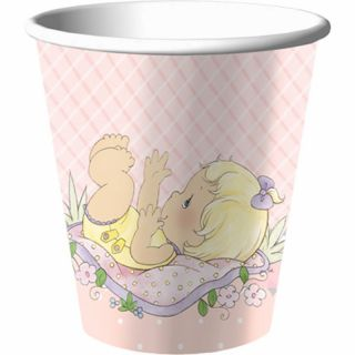 Precious Moments Baby Girl Shower Party 32 Dessert Plates Beverage Napkins Cups