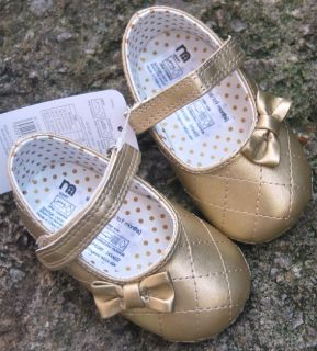 Gold Mary Jane Toddler Baby Girl Shoes UK Size 2 3 4