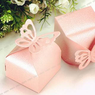 Butterfly Wedding Party Baby Shower Favor Gift Candy Bonbonniere Boxes XTH02