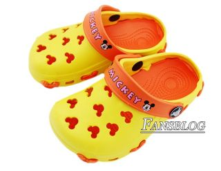 Lovely Mickey Mouse Children's Summer Foam Flip Flop Sandals Shoes Slippers M