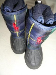 Polo Ralph Lauren Baby Boys Girls Rubber Winter Boots Big Pony Toddler 5 New