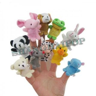 Animal Finger Puppet Children Kids Baby Plush Toy Bear Party Educational Favour