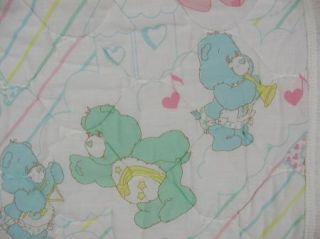 Vtg Curity Care Bears Baby Blanket Crib Comforter Quilt