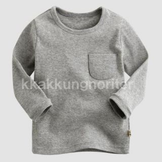 Made in Korea Petit BEBE Pocket Tee Boy Girl Unisex Baby Infant Cotton Clothing