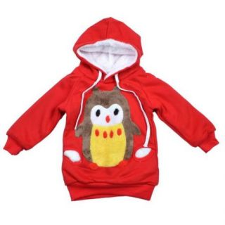 Baby Girls Owl Hoodies Coats Outwear Sz 2 6Y Snowsuit Jacket Warm Toddler New