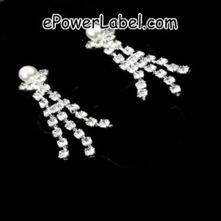 Wedding/bridal Crystal Necklace Earrings Set