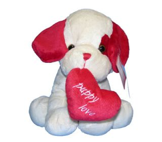 "Valentine's Day Gift Cute ""Puppy Love"" Heart 15 5"" Plush Stuffed Animal"