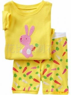 "Baby Toddler' Clothing Boys Girls Pajamas Sleepwear Kids Pajamas ""Bunny "" 203"