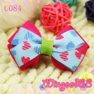 Women Girls Baby Cute Ribbon Polka Dots Bowknot Hair Bow Clip Party Costume