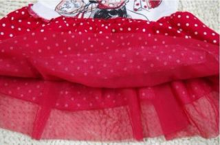 Girl Disney Minnie Mouse Top Dress Shirt Sz0 7Y Party Costume Skirt Tutu Gift