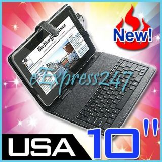Keyboard Case with Stylus Pen for 10inch Superpad Flytouch Android Tablet PC