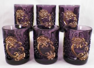 Croesus Amethyst Water Set Pitcher 6 Tumblers Riverside EAPG Antique Magnificent