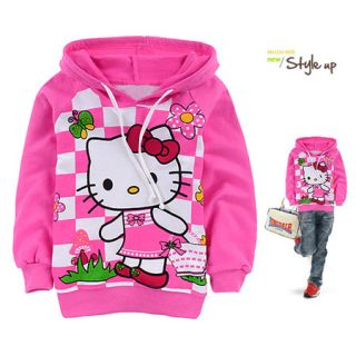 Pink Girls Kitty Long Sleeve Hoodie 2 8 yrs 6045