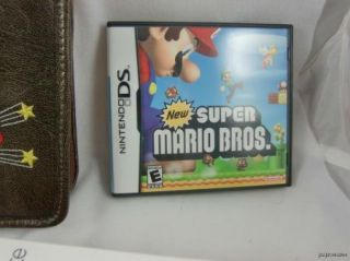 Nintendo DS Red System Super Mario Bro Case Game Bundle