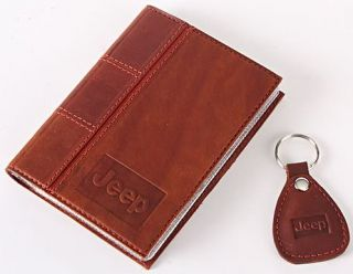 New Leather Auto Documents Holder Cover Drivers LICENCE Insurance Jeep