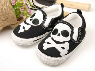 727 New Toddler Baby Boy Cute Skull Shoes 18M 24M