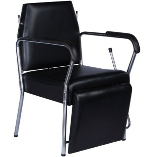 Black Reclining Beauty Salon Equipment Shampoo Chair with Foot Rest SPC 67
