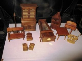 Doll House Furniture Lot Wood