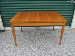 Danish Modern Teak Extendable Hide Away Leaf Dining Table Mid Century 60's 70'S