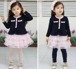 Toddler Girls Long Sleeve Tutu Skirt Wedding Party Pageant Kids Dress 6 7Y