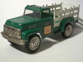 Vintage 1960s Hubley Mighty Metal Stake Truck USAF Air Force Pressed Steel 800