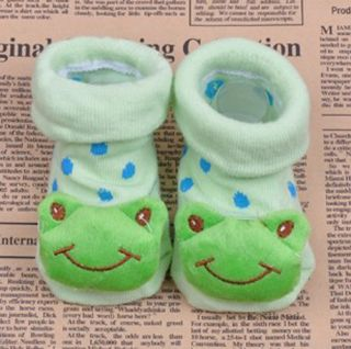 Cartoon Animal Cute Newborn Unisex Baby Warm Socks Indoor Anti Slip Shoes Boots
