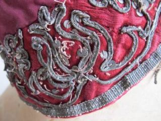 Antique Red Heavily Embroidered Gold Gilt Matador Bull Fighting Bolero Jacket