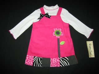 "New ""Animal Daisy"" Dress Girls Winter Clothes 24M Fall Infant Baby RARE Editions"