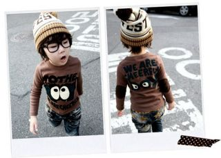 New Baby Toddler Kids Boys Crew Neck Long Sleeved T Shirt Top Tothe Size 3T 6 06