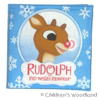 Rudolph The Red Nosed Reindeer Cloth Soft Book Christmas Gift Kids Baby Holiday
