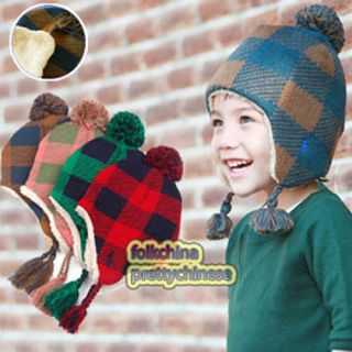 Baby Boys Girls London Check Winter Trapper Hat 4 Colours Bch