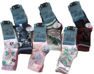 5 Pairs of Cool Design Ankle Socks for Kids Boys Girls