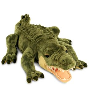 Keel Toys Large 66cm Laying Alligator Crocodile Soft Plush Cuddly Toy