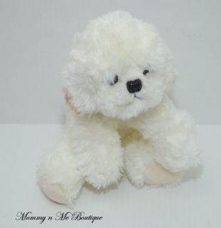Russ Berrie Muffin White Puppy Dog Plush Toy