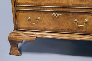 Antique Style Walnut File Cabinet Chest Drawers