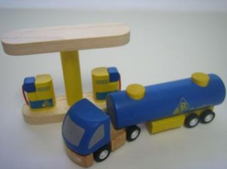 Plan City Gas Service Station Wooden Pumps Fuel Truck Car Wash Lot