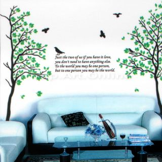 Spring Tree Removable Window Mural Wall Paper Sticker Decal DIY